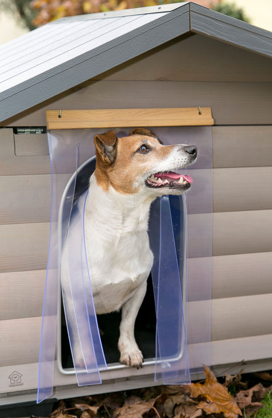 Шторка-завеса для собачей будки