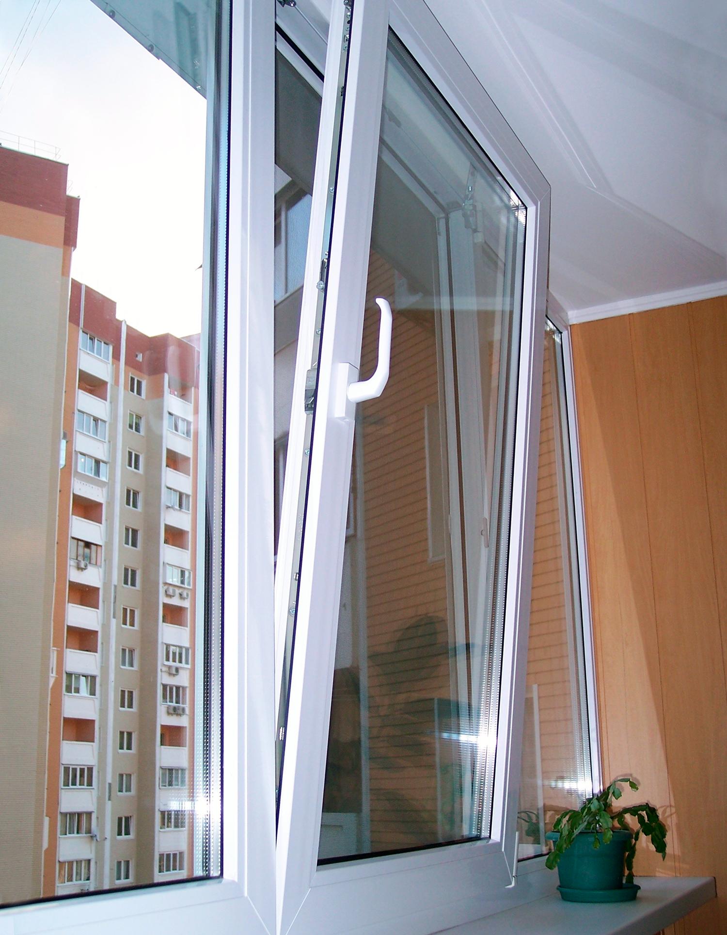 Поворотные окна.